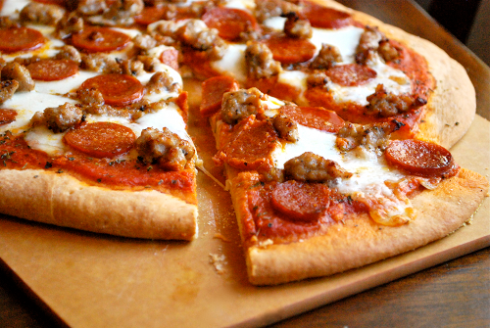 italian-sausage-pepperoni-pizza